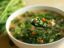 Суп с листьями кровохлебки