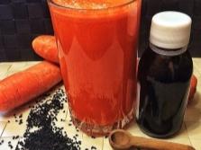 Морковный сок с маслом черного тмина