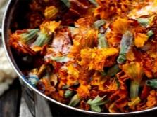 Цветы тагетеса замороженные