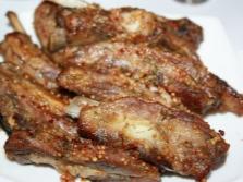 Свиные ребра с горчицей