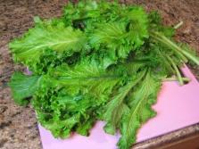 Листья салатной горчицы