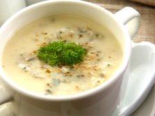 Грибной суп-пюре с мускатным орехом