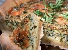 Пирог с сыром и пертушкой