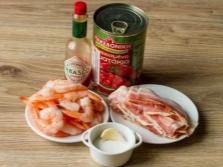 Морепродукты с соусом табаско