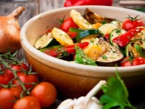 Готовим овощи на сковороде-гриль