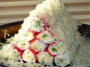Рецепты закусок из крабовых палочек с сыром и другими ингредиентами