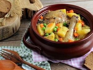 Приготовление жаркого из курицы