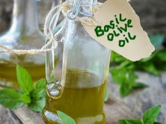 Оливковое масло настоянное на базилике
