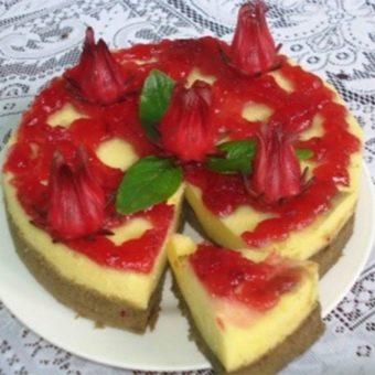 Торт с гибискусом