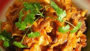 Тушеная капуста: калорийность и пищевая ценность блюда