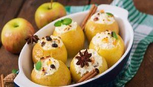 Запеченные яблоки с творогом: калорийность и способы приготовления