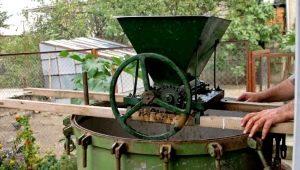 Дробилки для винограда: виды, изготовление и правила использования