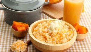 Как приготовить рисовую кашу с тыквой в мультиварке?