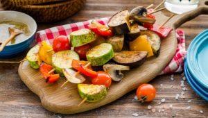 Готовим шашлык из овощей