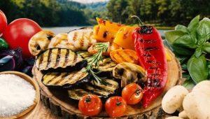 Способы приготовления овощей на мангале