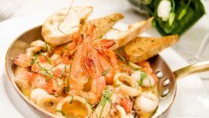 Рецепты блюд из морепродуктов