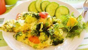 Рецепты омлета с брокколи