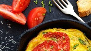 Рецепты приготовления омлета с помидорами