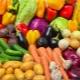 Калорийность сырых и приготовленных овощей