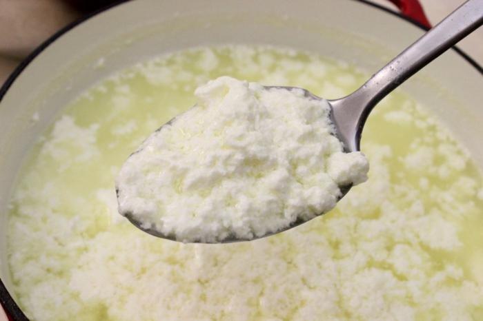 как приготовить из молока творог