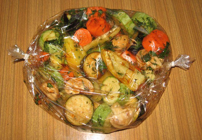 Запеченные в рукаве овощи: рецепты запекания овощей