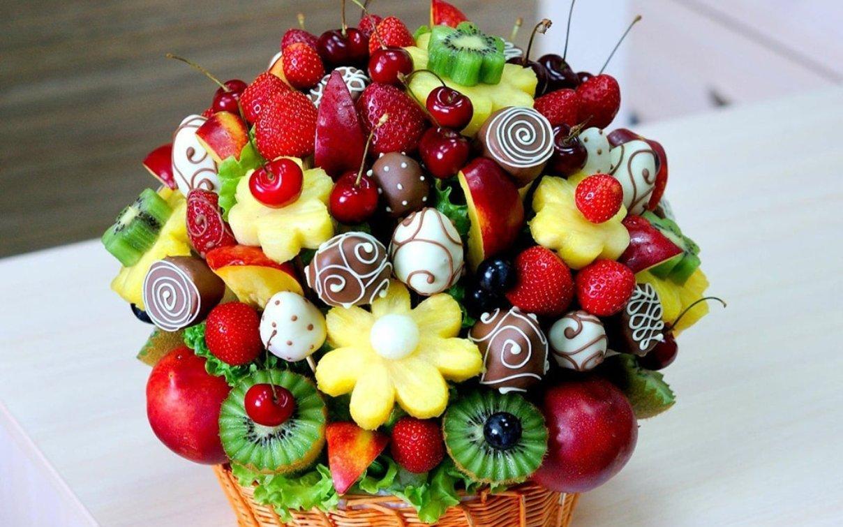 Дню влюбленных, открытки с фруктами на день рожденья