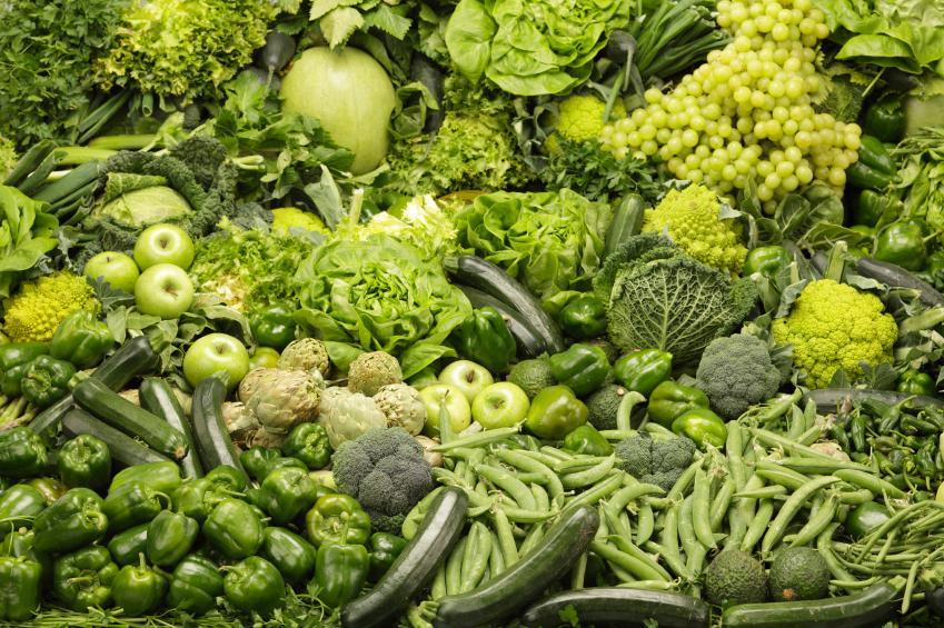 цвета картинки зеленый фрукты овощи него