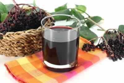 Сок плодов бузины черной
