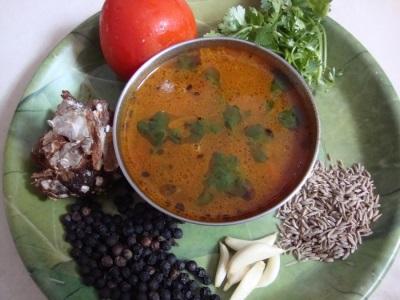 Суп из овощей с черным перцем