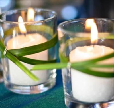 Завязки на свечах из лемонграсса