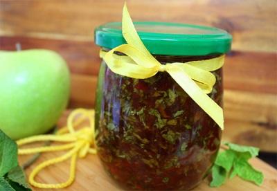 Яблочно-мятное желе