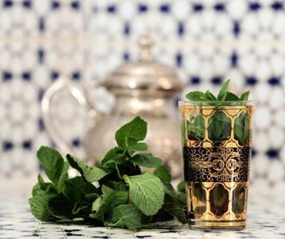 Черный чай с мятой
