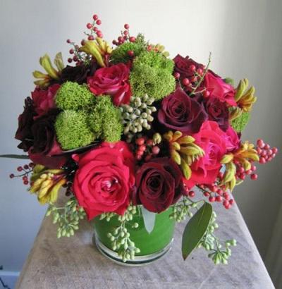 Букеты цветов с розовым перцем