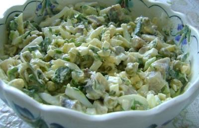 Весенний салат с сурепкой