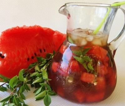 Чай арбузный с базиликом