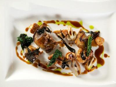 Белые грибы, жаренные на гриле