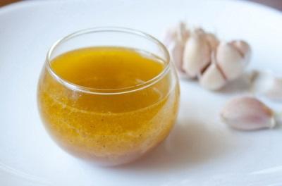 Льняное масло с чесноком