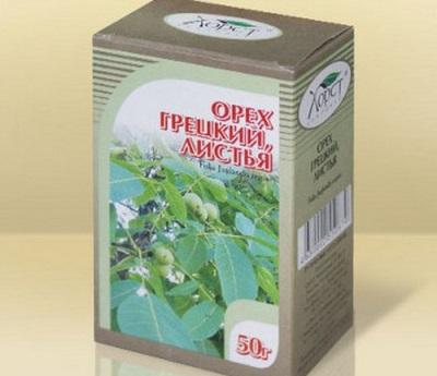 Из листьев грецкого ореха готовят множество лечебного сырья
