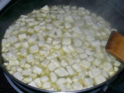 Процесс приготовления грибов дождевиков