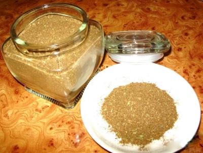 Порошок из сушеных грибов лисичек - грибная приправа