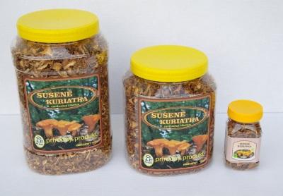 Сушеные грибы лисички