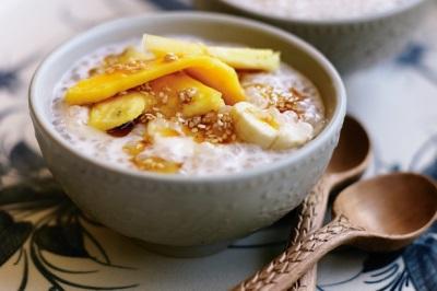 Фруктовый десерт с кокосовым молоком