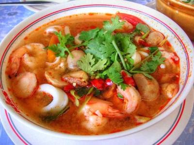 Том Ям Кха Кунг, сваренный из креветок