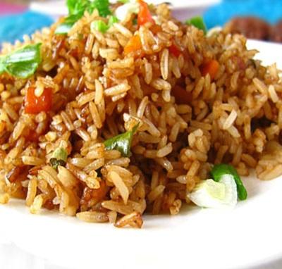 Жареный рис с кунжутным маслом