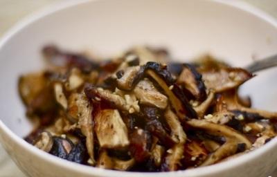 Жаренные грибы шиитаке