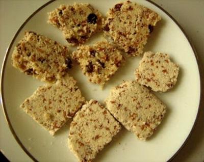 Печенье из миндального жмыха