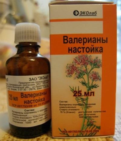 Настойка валерианы в аптечной упаковке