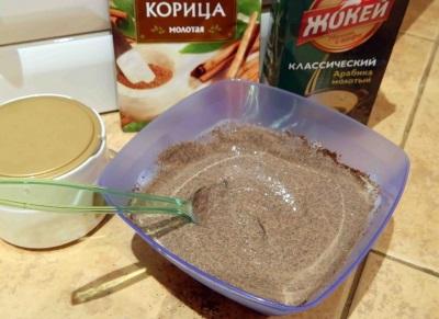 Рецепт обертывания корицы с кофе