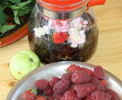 Чай с цветами пеларгонии