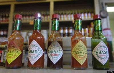 Табаско очень популярная марка соусов
